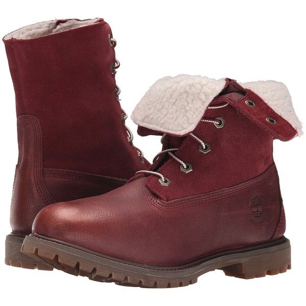 Womens Boots Timberland Authentics Teddy Fleece Fold-Down Port Rugged Metallic Finish