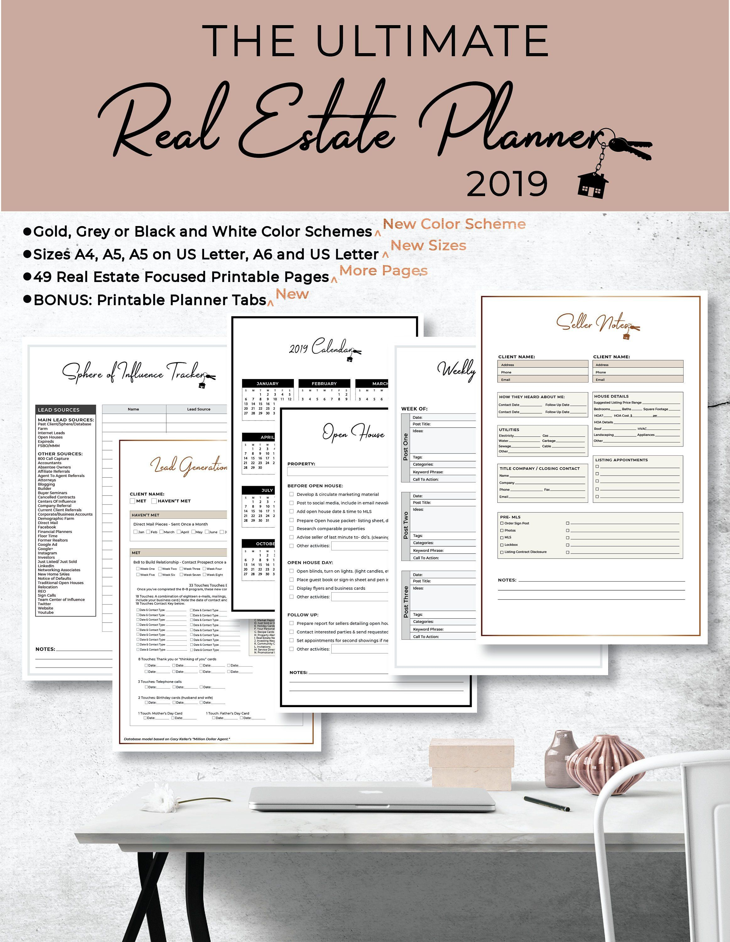 Home Office Expenses 2020.Ultimate 2019 2020 Real Estate Business Planner Instant