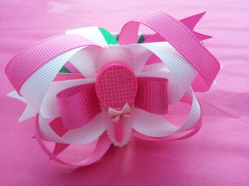 Summer sports tennis boutique bow alice band ♥ #hairaccessories #summer #tennis #perfectserve