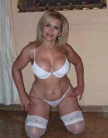 Mature older women in lingerie