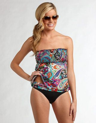 55f3785d366 ShopStyle: KENNETH COLE Paisley Bandeau Tankini Swim Top | My Style ...