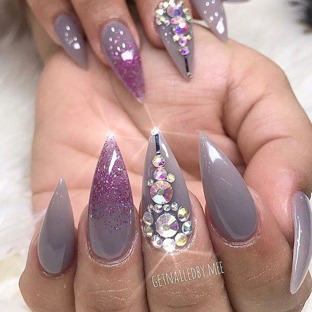 9 lovely nail designs to try for long short nails | Short nails ...