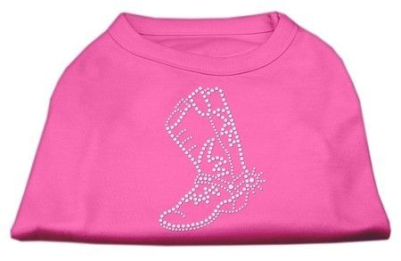 Rhinestone Boot Shirts Bright Pink XS (8)