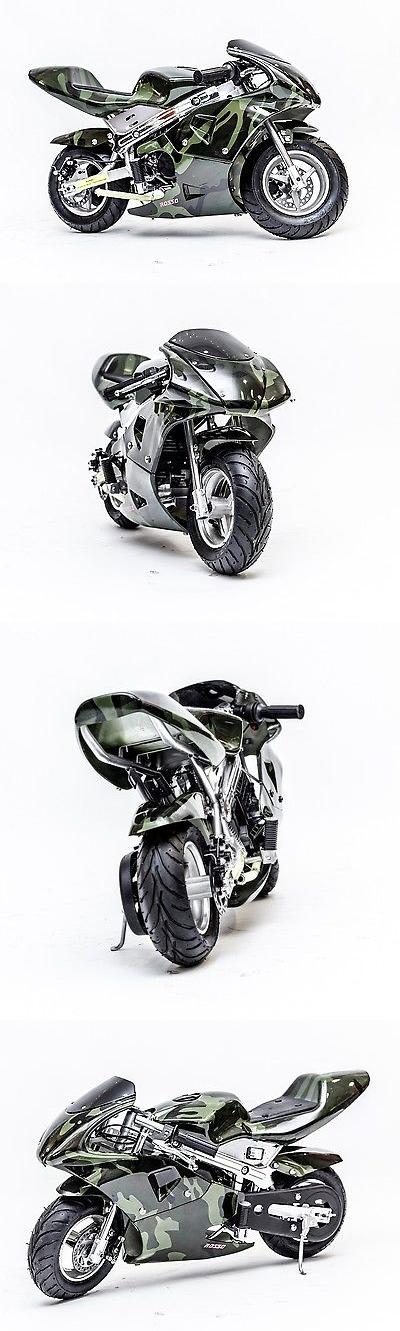Gas Scooters 75211: Kids Gas Mini Pocket Bike Kids Motorcycle Epa Approved Gas Pocket Bike Army Camo -> BUY IT NOW ONLY: $349 on eBay!