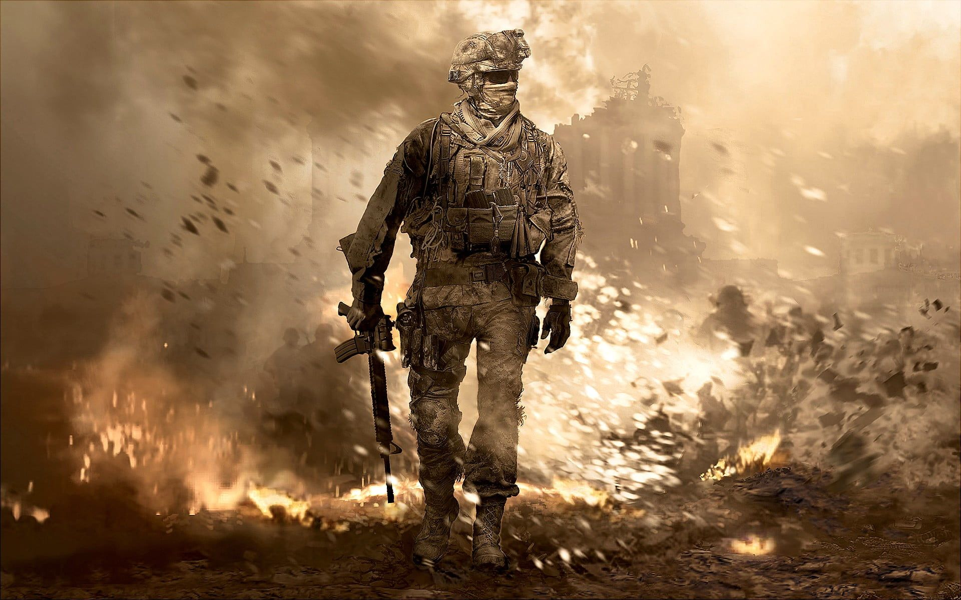 Soldier Wallpaper Call Of Duty Modern Warfare 2 Video Games Soldier War 1080p Wallpaper Hdwallpaper Desktop Modern Warfare Call Of Duty Gaming Wallpapers
