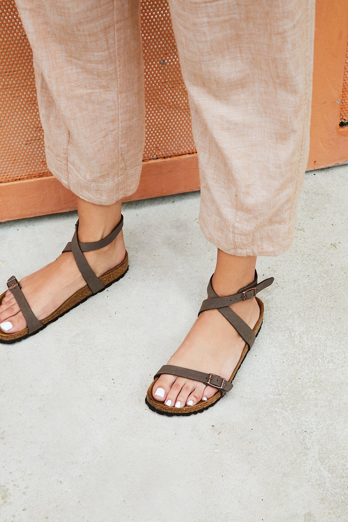 12cba534e7a4 Yara Birkenstock | Elegant sandal with an adjustable ankle strap and toe  loop. Features the Birkenstock classic footbed and shock-absorbing EVA sole.