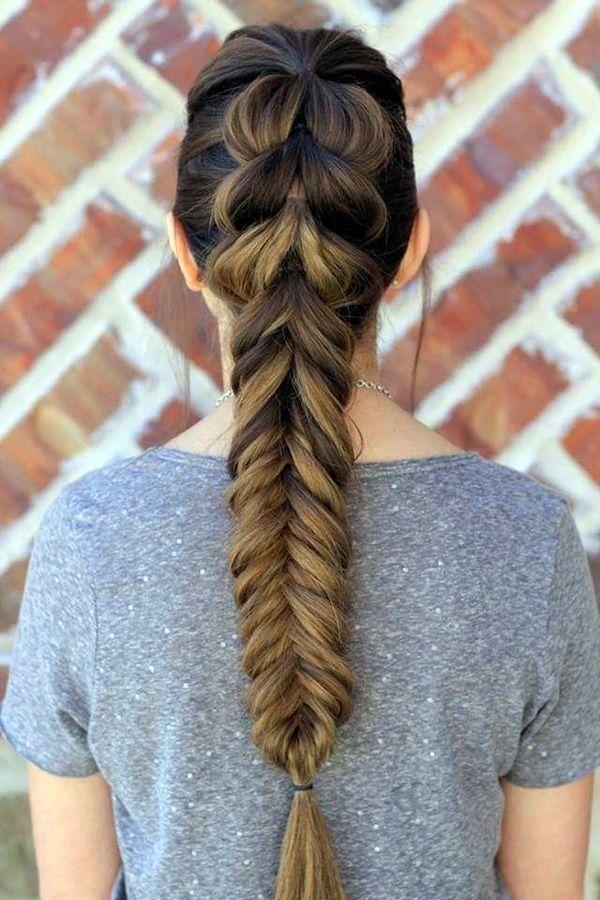 Imagenes peinados faciles cabello largo
