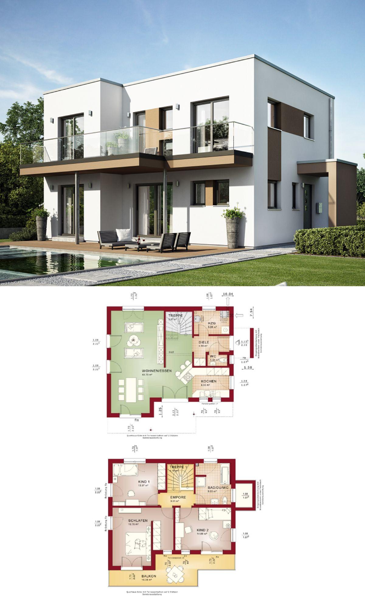 Stadtvilla bauhausstil grundriss haus evolution  bien zenker ideen hausbaudirekt also bungalow modern ebenerdig mit walmdach architektur bauen rh pinterest