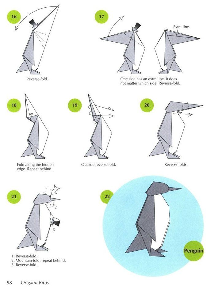 Photo of Origami penguin page 3 Dover Publications Origami penguin page 3 Dover Publicati…