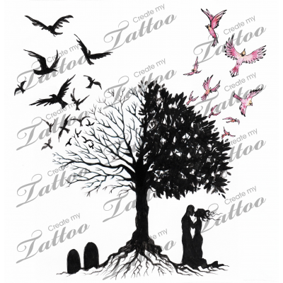 Marketplace Tattoo Tree Of Life And Death Tattoo Design By Liza