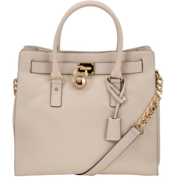 481ac88a69a0 MICHAEL Michael Kors Hamilton 18K Large Leather North/South Tote... ($475)  ❤ liked on Polyvore featuring bags, handbags, tote bags, purses,  accessories, ...