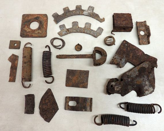 20 Pieces of Rusty Metal Springs Parts Objects / by ...