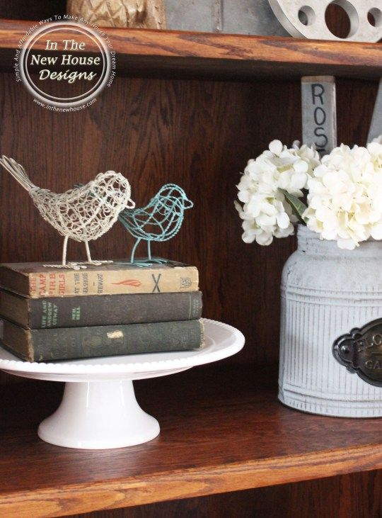 Fill In E On Open Shelving And Raise Up Collectibles With A Cake Stand