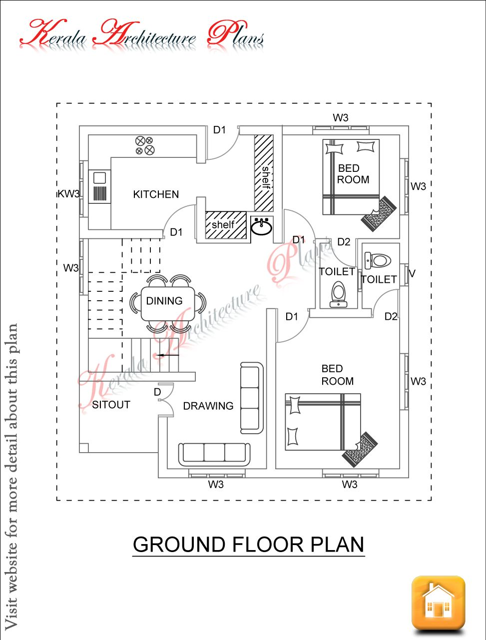 Kerala architecture plans dec 06 ff 1500 square feet house plan ground floor and