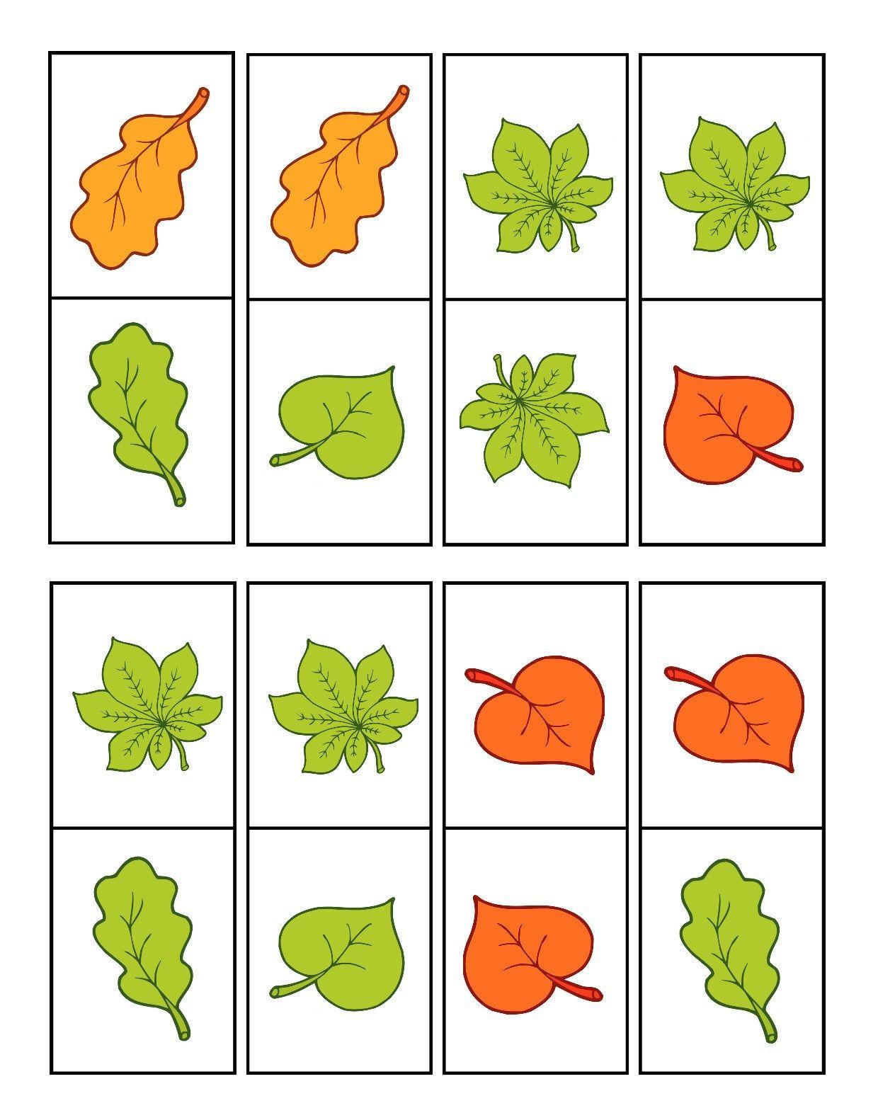 bladerdomino 3   Blätter   Pinterest   Herbst, Logopädie und Blätter