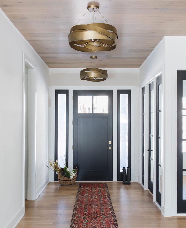 M House Grey Mission Front Door 1 4 With Side Lights Glass Black Interior Doors Painted Front Doors Interior Door Paint Colors