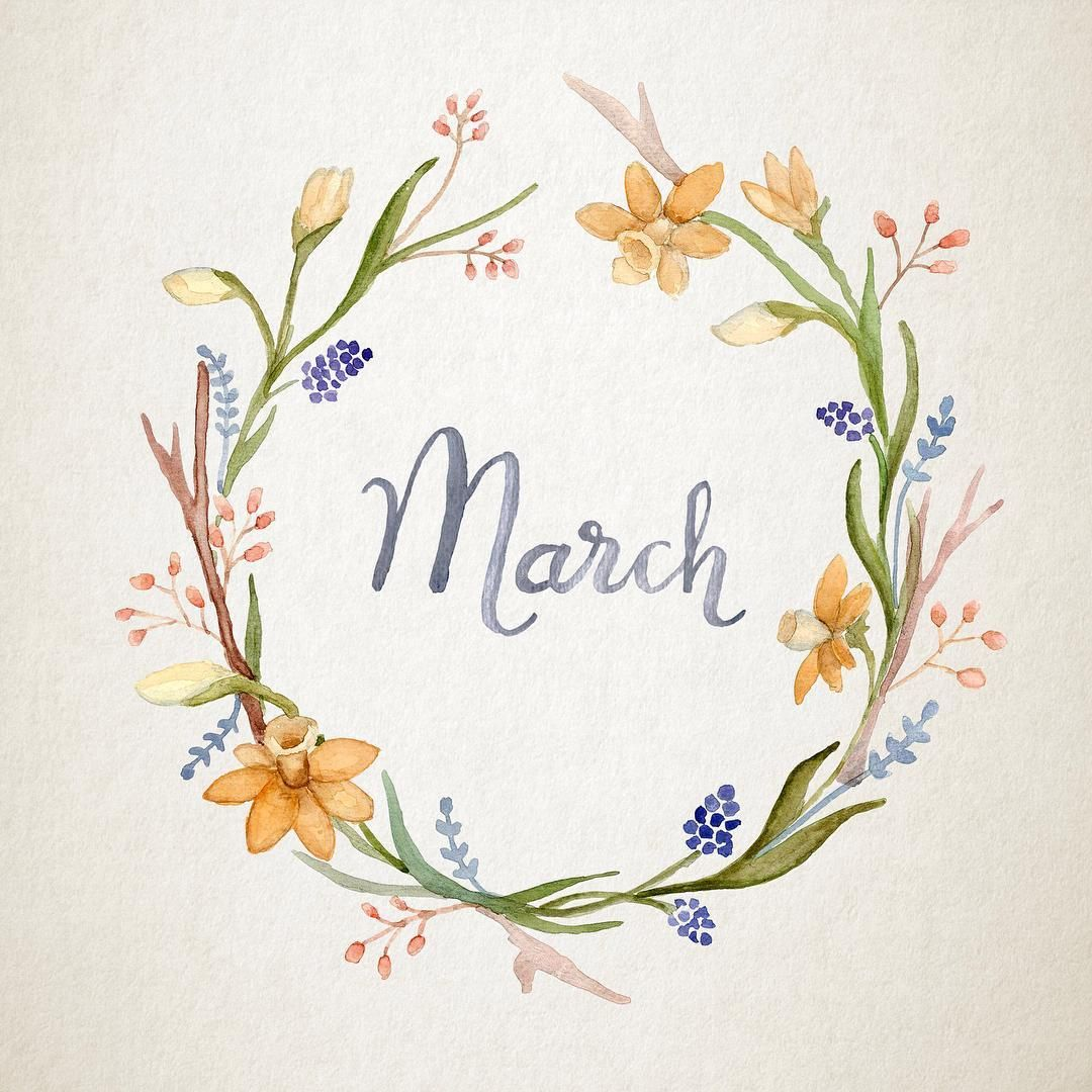 Photo of Printable Monthly Calendar 2019 – Nature Art Floral Wreath and Watercolour Calligraphy – Downloadable PDF