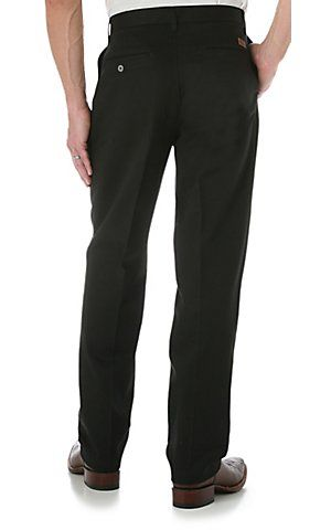 Wrangler® Riata™ Black Casual Relaxed Fit Pants | Cavender's Boot City 34X34 $26.99 On Sale