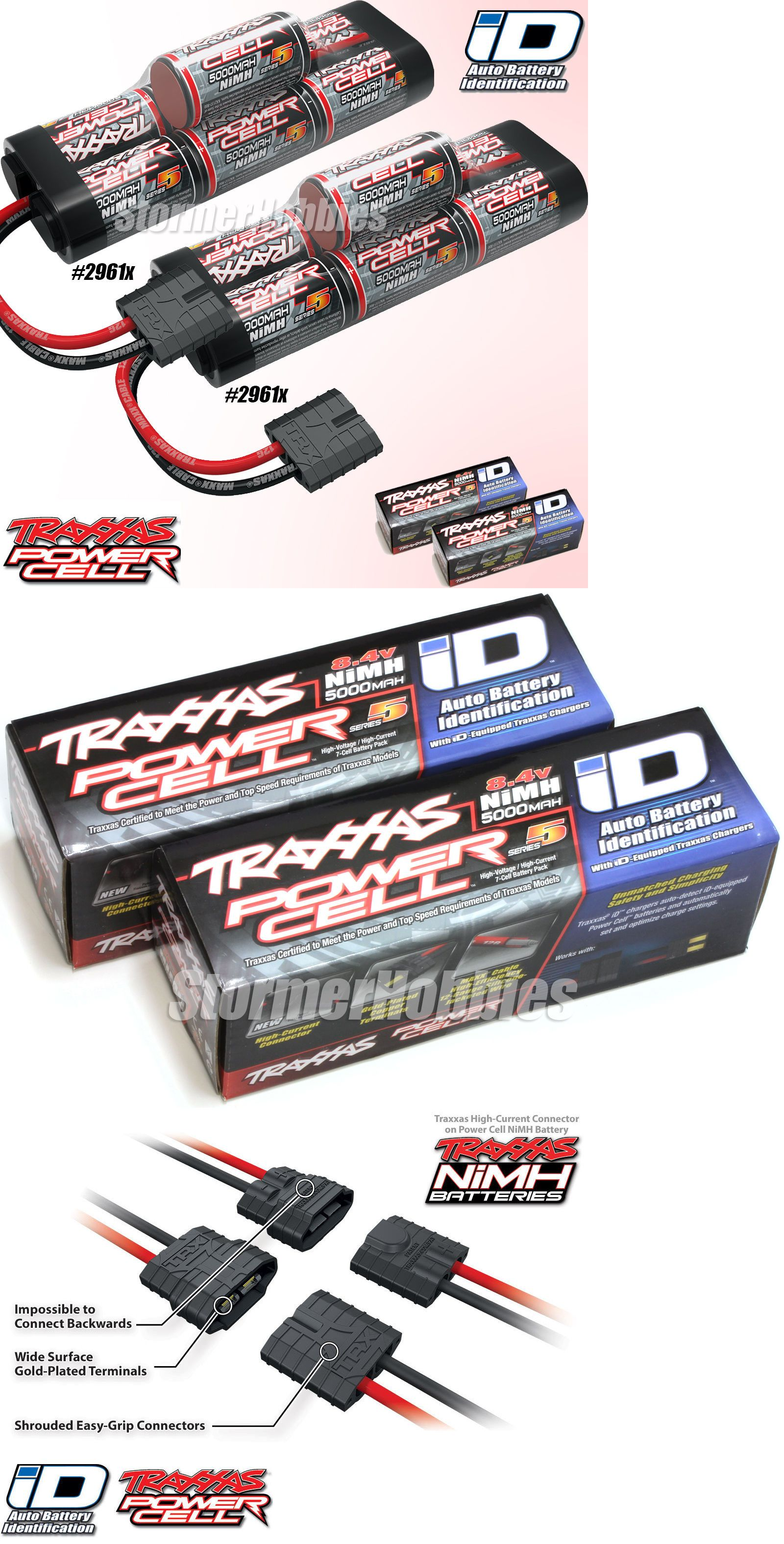 Batteries Traxxas 2961X 7 Cell 8 4V 5000Mah Hump Pack Batterys W Id