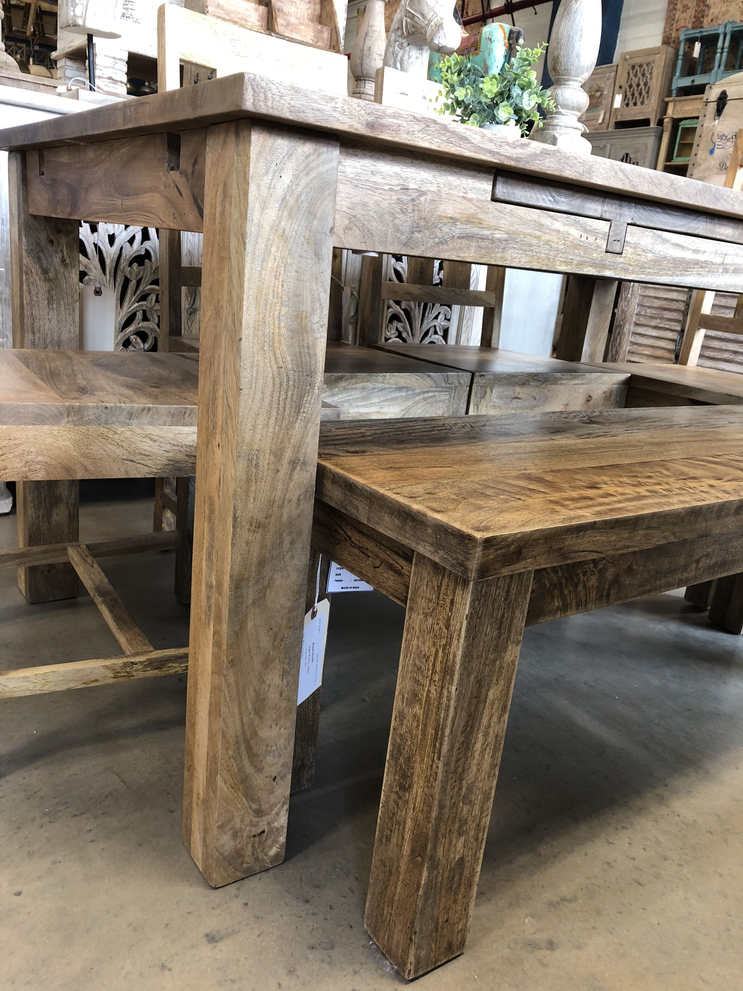 Solid Reclaimed Organic Wood Tables Chairs Benches This Table Has Self Storing Leafs For Easy Extension Ready A Party Of 1 Or 10