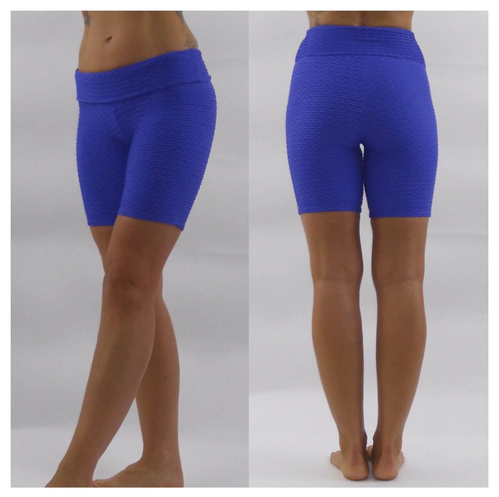 Blue Scallops - Textured Shorts