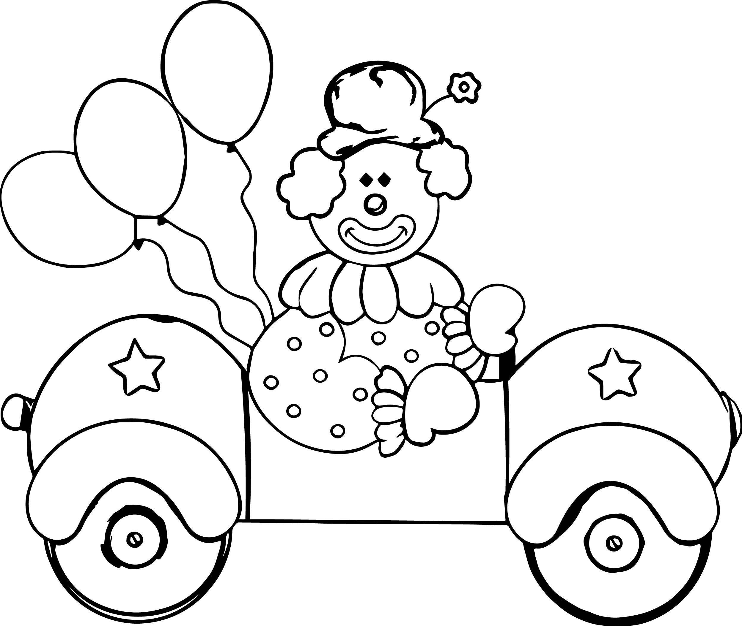 Nice Clown Car Coloring Page Cars Coloring Pages Coloring Pages