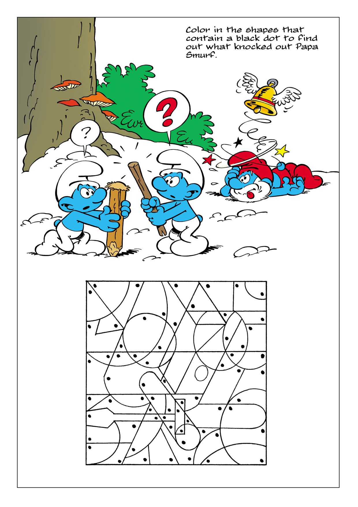 Smurf Pastime in 2020 | Smurfs, Activity sheets, Free ...