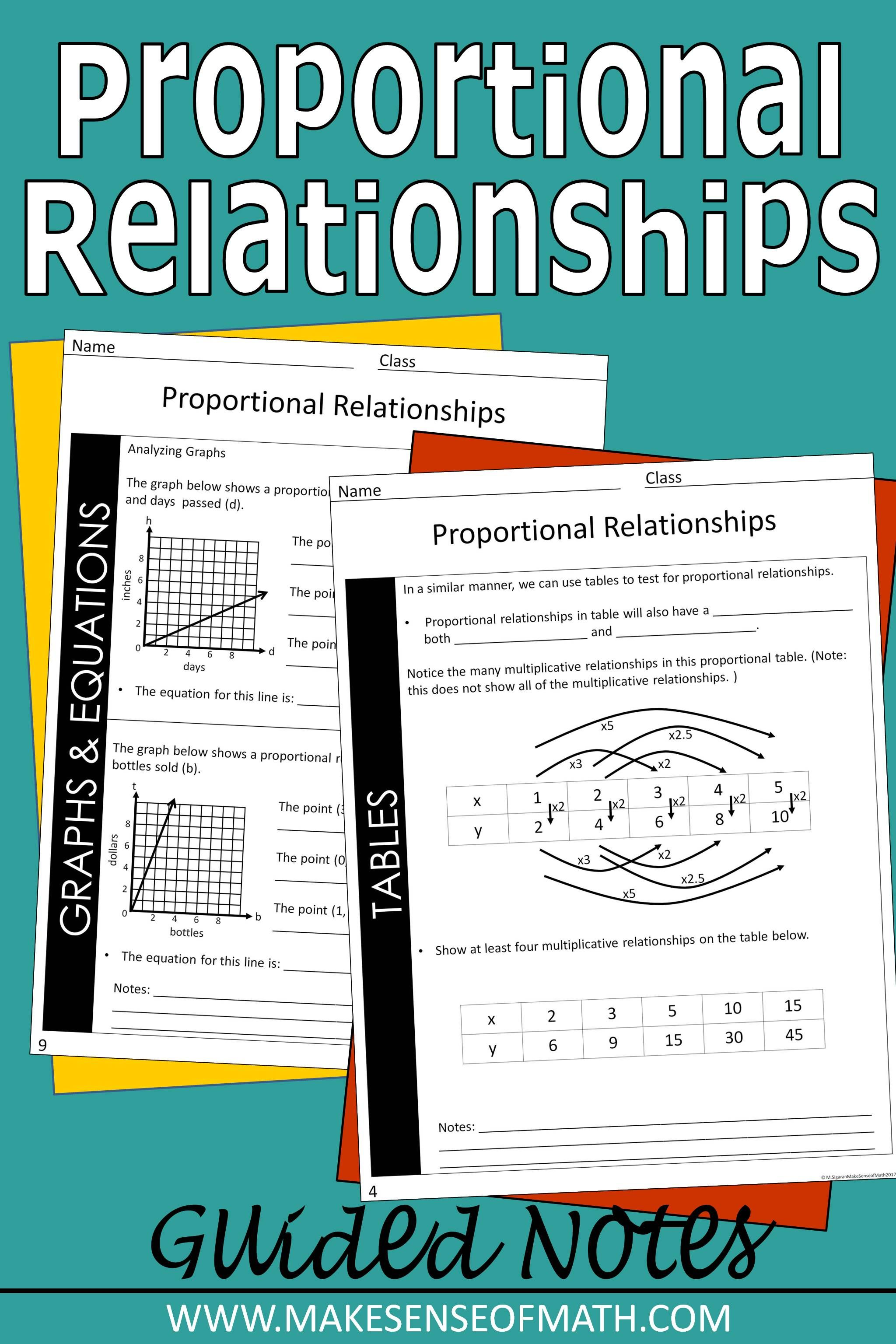 hight resolution of Check out these proportional relationships guided notes for your 7th grade  math classroom. These are n…   Proportional relationships