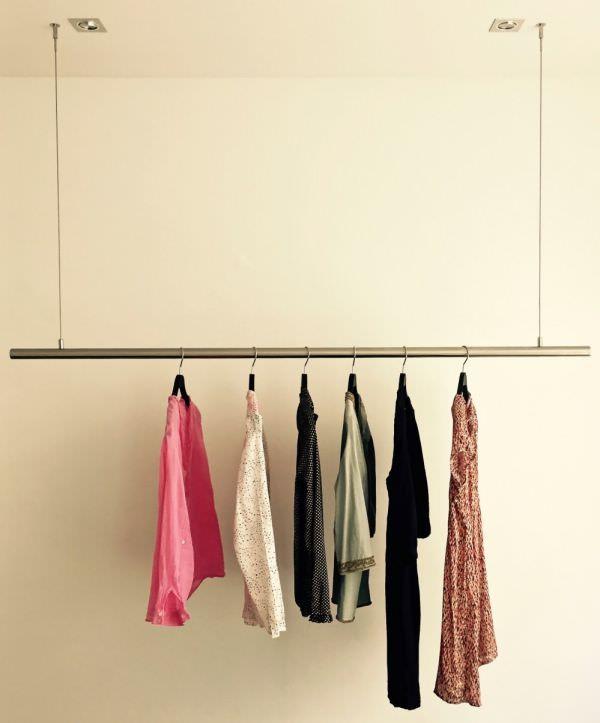 Kleiderstange Deckenmontage airjust die schwebende kleiderstange airjust the floating cloth