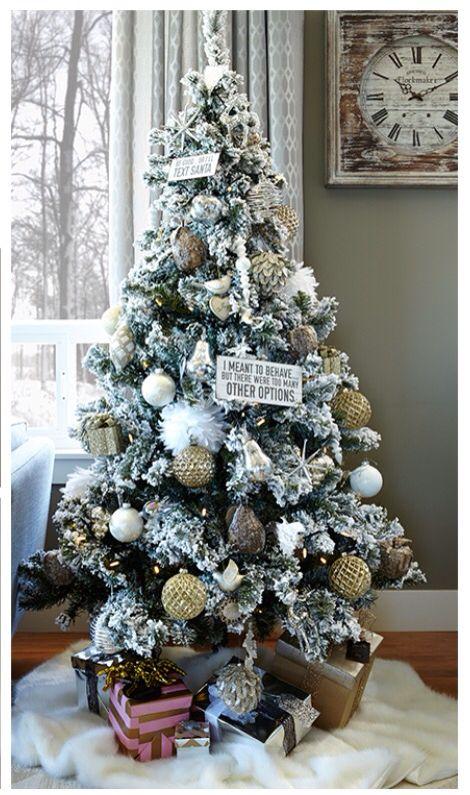 Urban Barn 2015 Flocked Christmas Tree 6 feet $178 | Natal