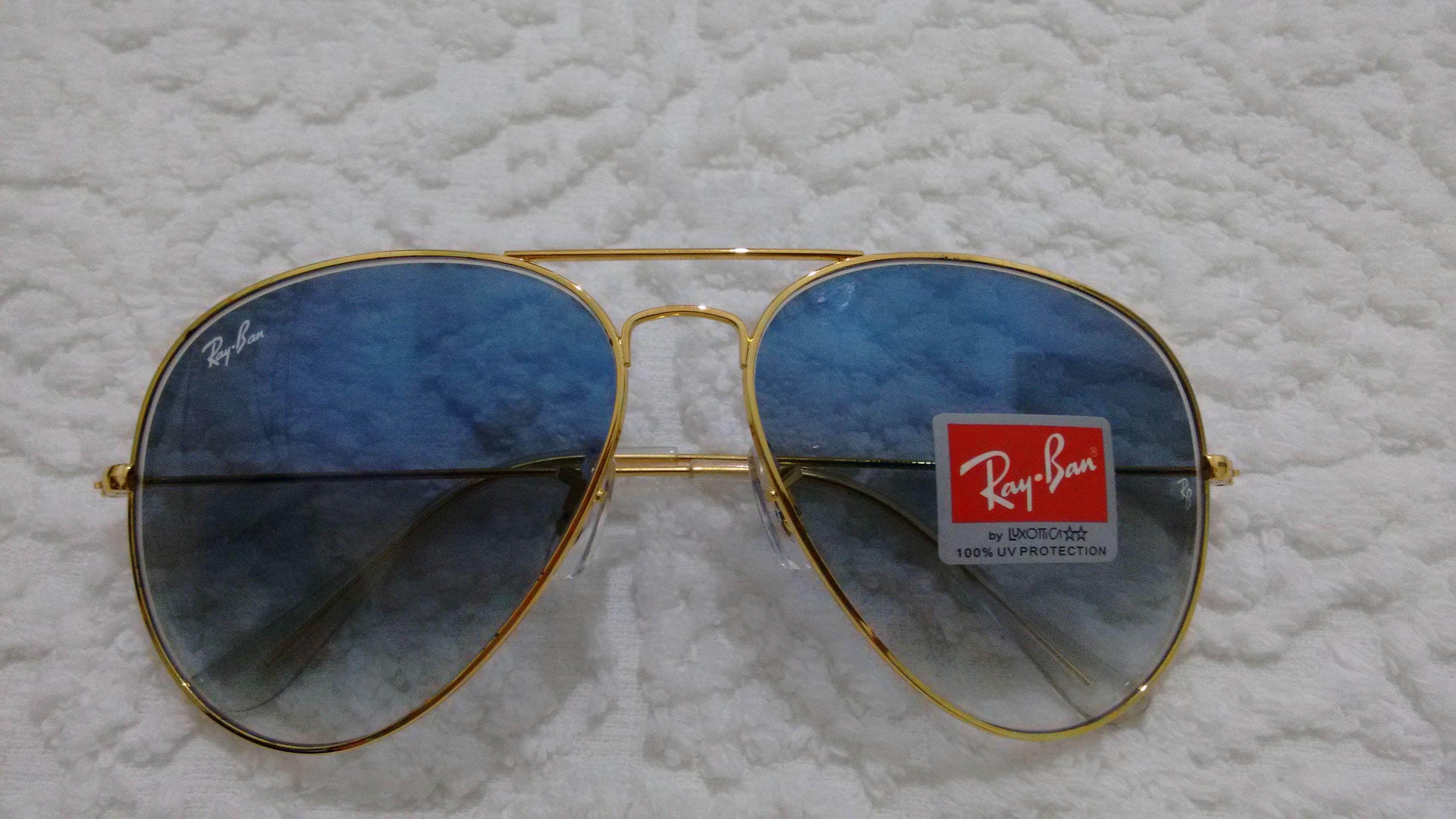 bdf510aa0 Óculos Ray ban aviador azul degradê whatsapp 75991182115   Óculos ...