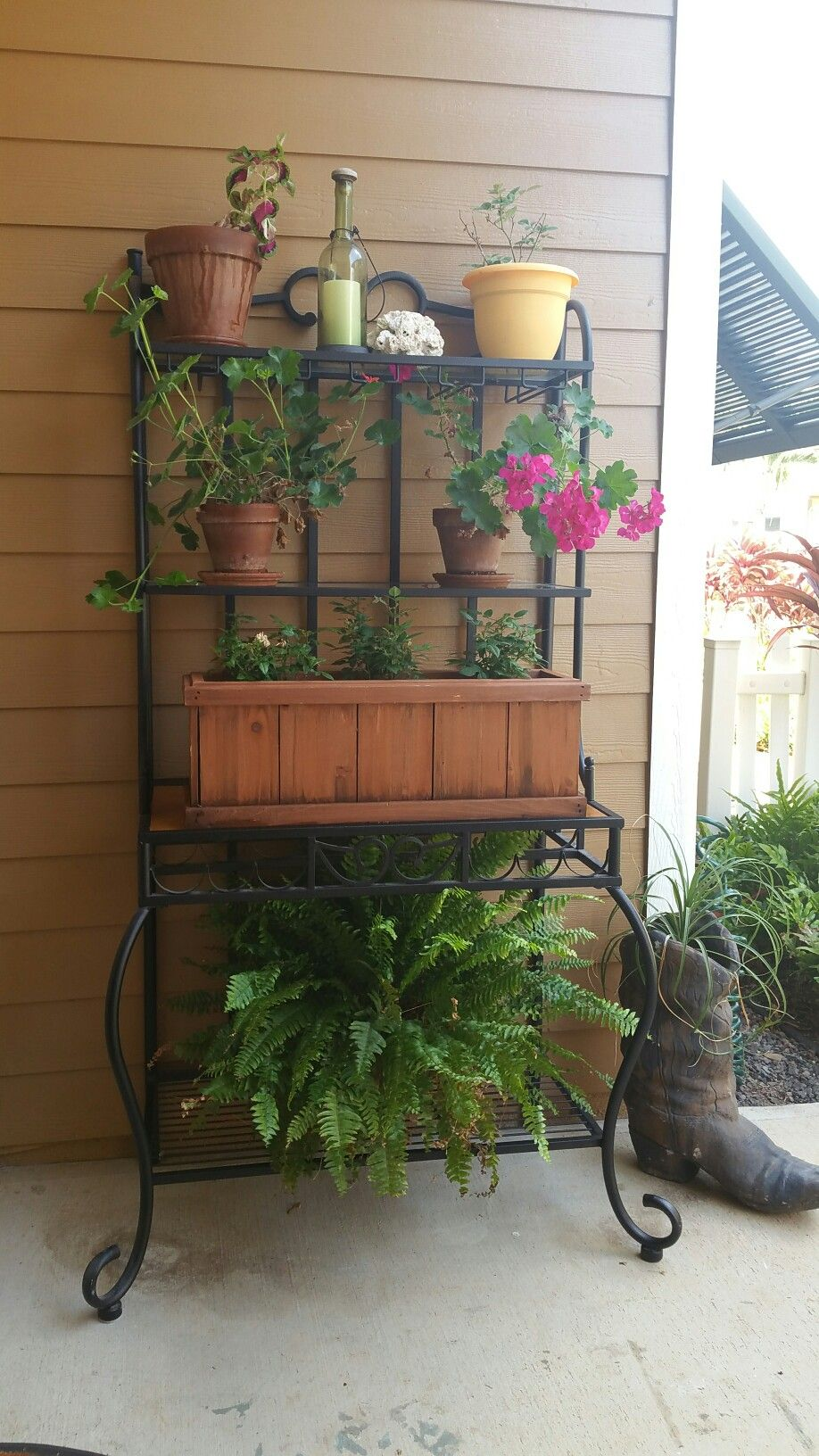 Beautiful Repurpose Bakers Rack
