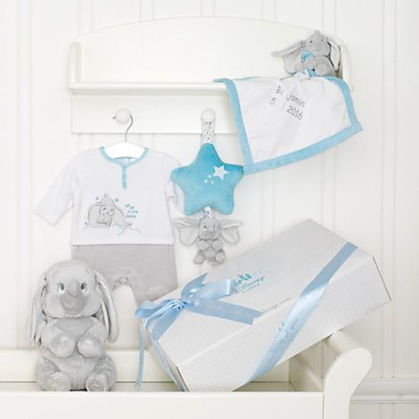 Dumbo Layette Blue Personalised Baby Gift Set Disney