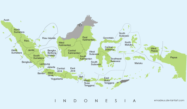 Free vector map of indonesia free vector graphics indonesia and free peta indonesia propinsi labels english please use this file for your project any inputs and comments are welcome more free vector graphics gumiabroncs Choice Image