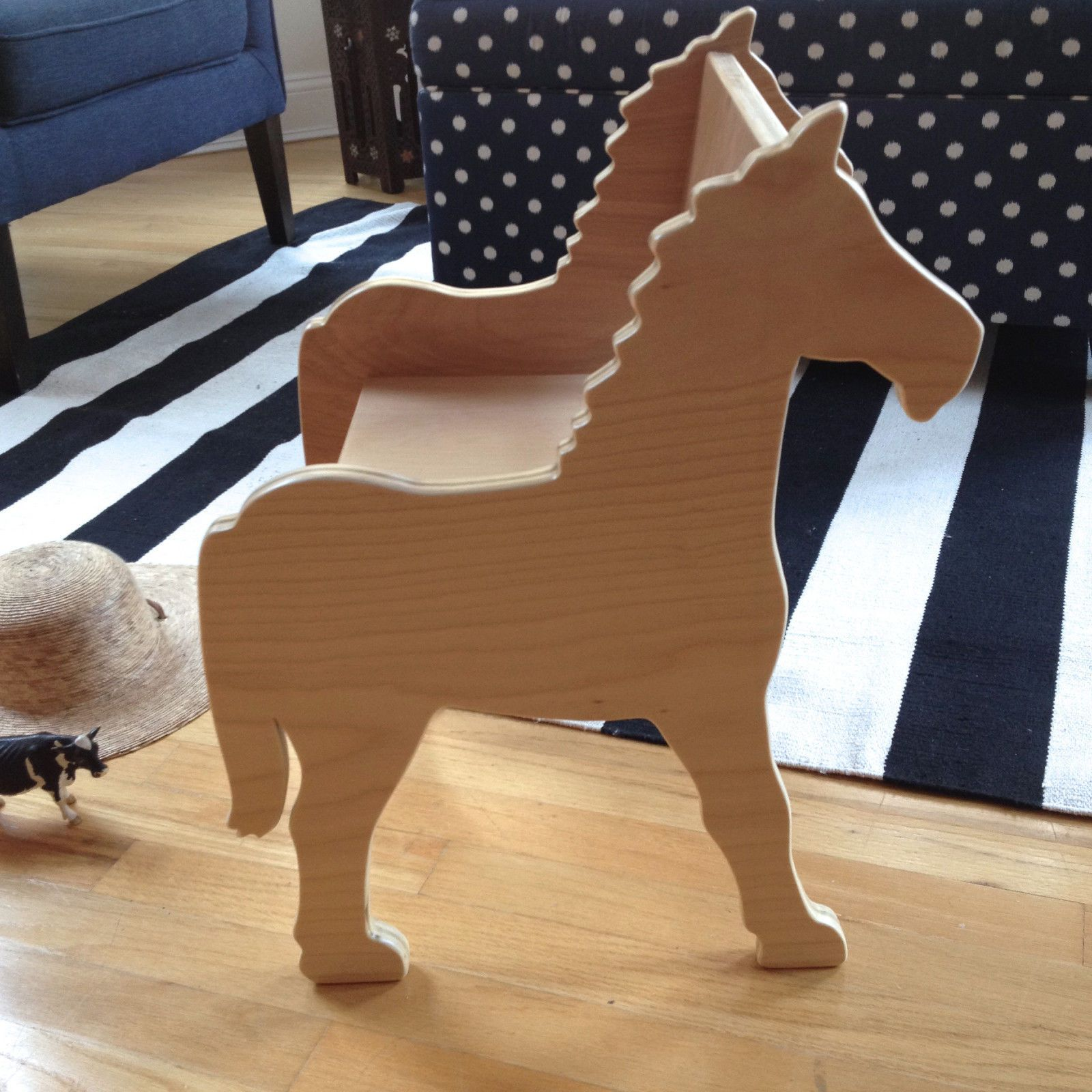 children's pony chair, for playroom or nursery. click