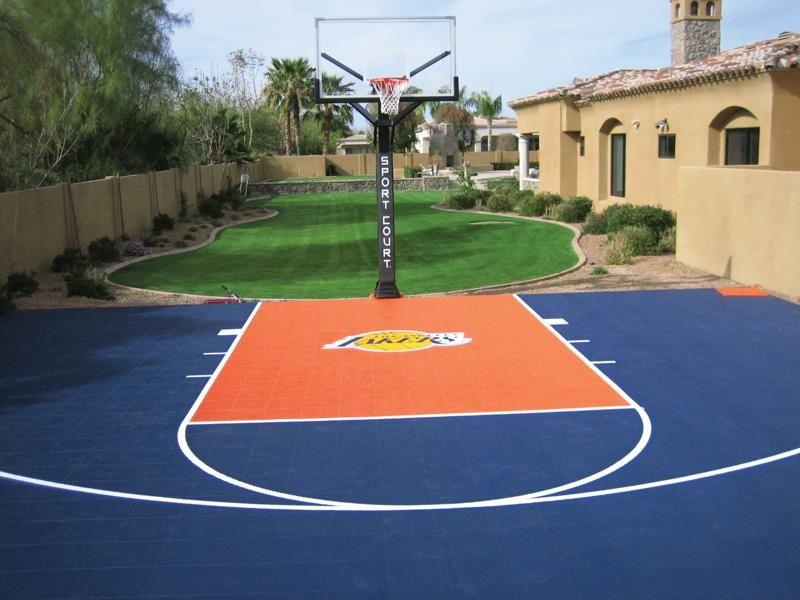 Charmant Backyard Basketball Court