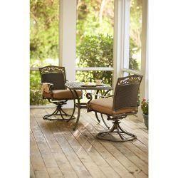 Patio Bistro Set 3 Piece Outdoor Garden Furniture Round Table