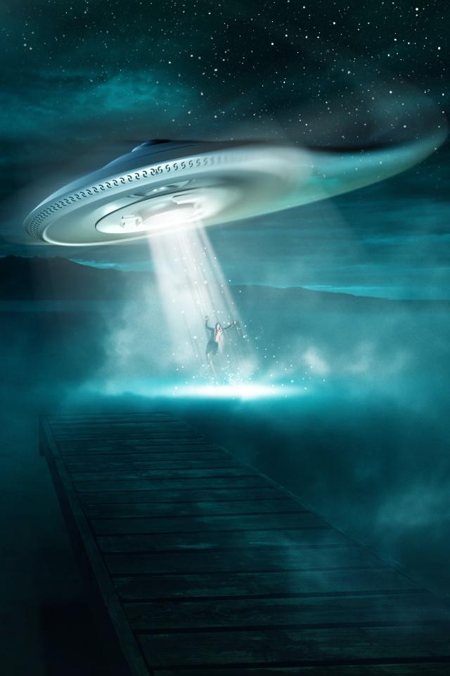 UFO Fantasy iPhone Wallpaper   iPhone Wallpaper Blog ...  UFO Fantasy iPh...