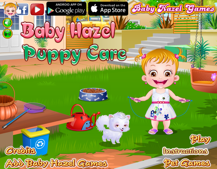 Play Baby Hazel Puppy Care to enjoy taking care of naught