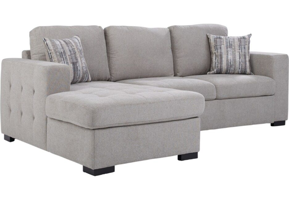 Angelino Heights Gray 2 Pc Sleeper Sectional Sleeper Sectional Sectional Furniture