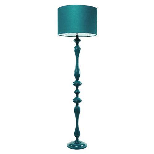 Modern Gloss Teal Blue Green Spindle Floor Standing Standard Light Lamp Ebay Red Floor Lamp Floor Lamp Lamp