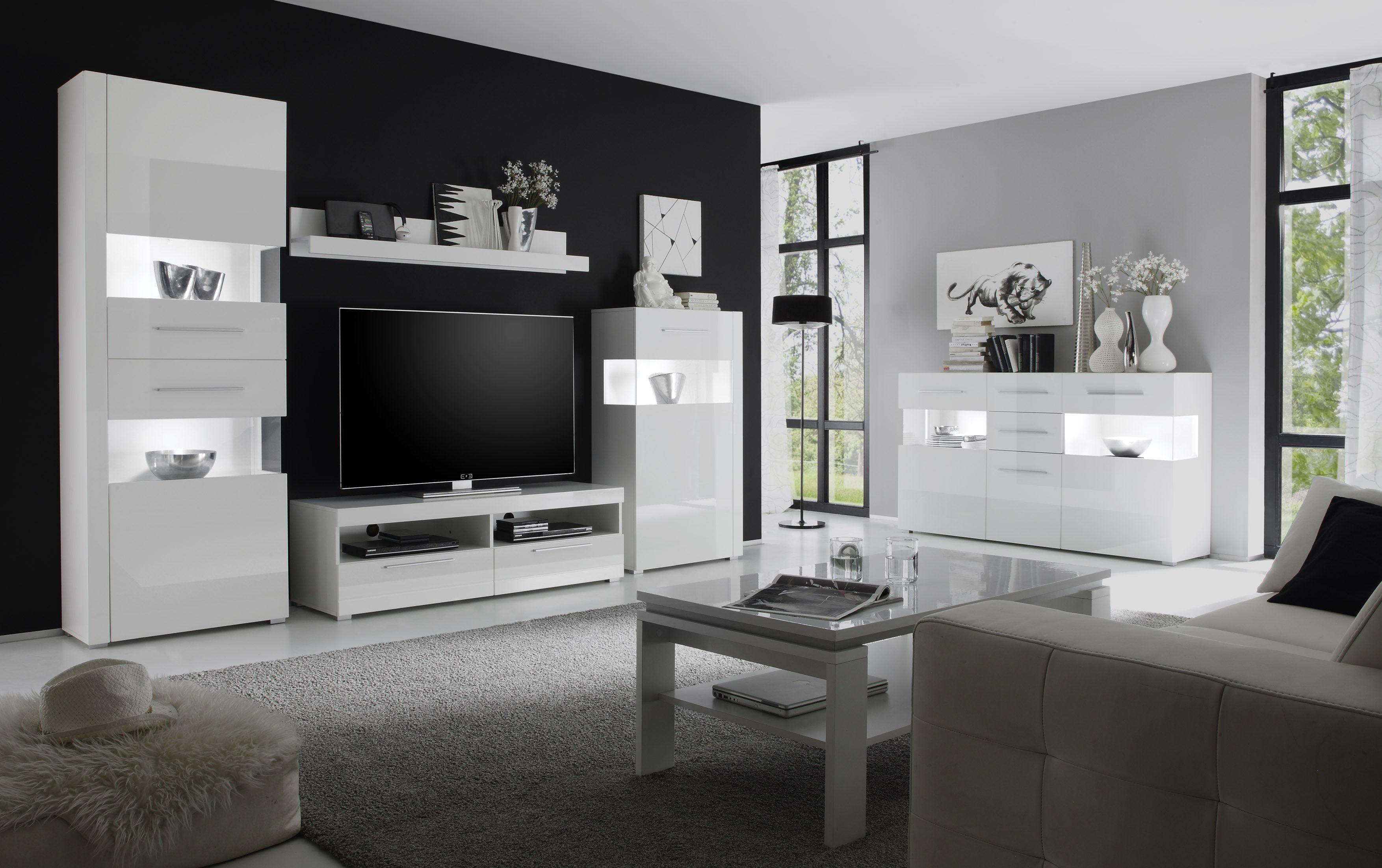 Best Wohnzimmer Weis Hochglanz Contemporary - ghostwire.us ...