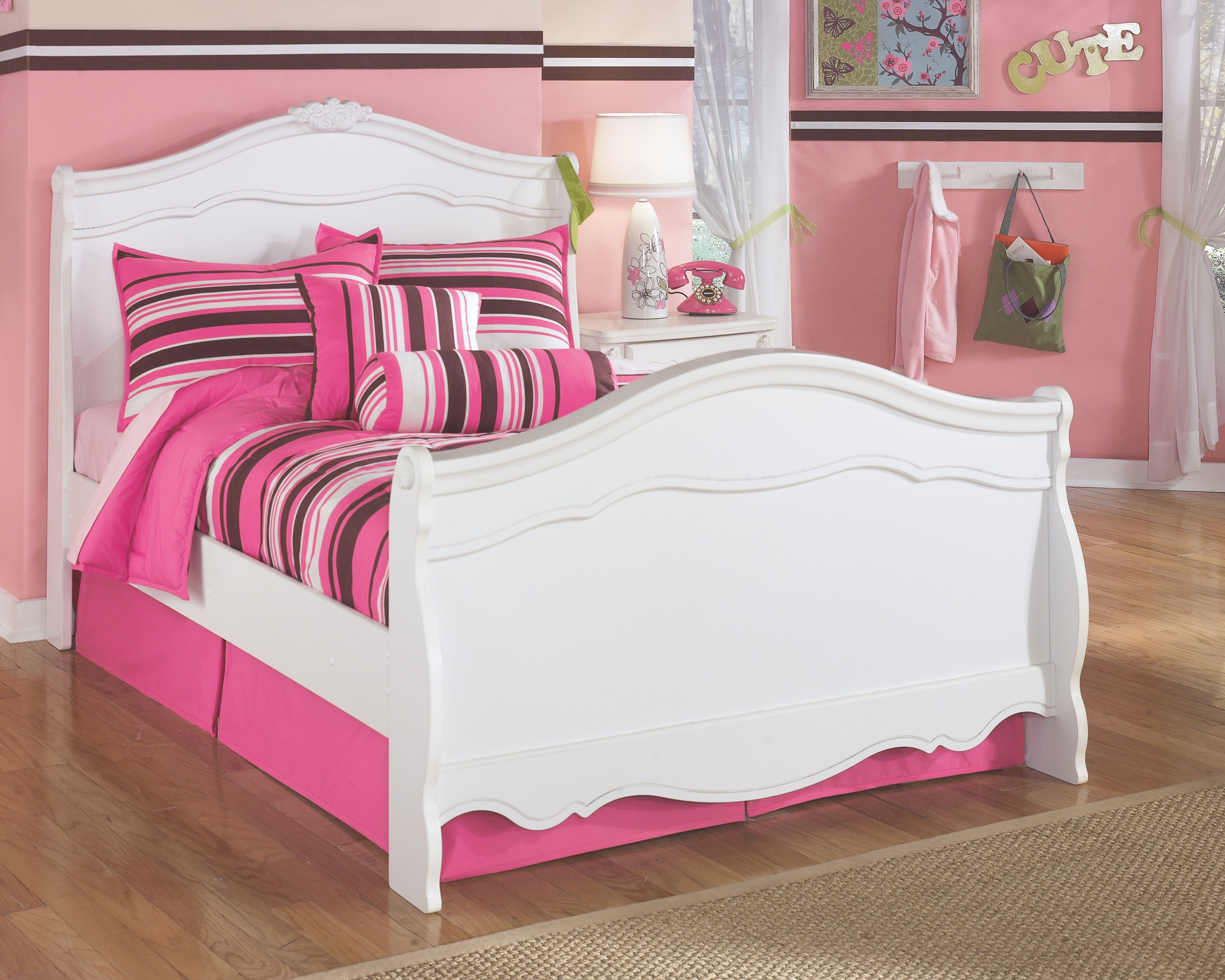 Exquisite Full Sleigh Bed, White Sleigh beds, Kids