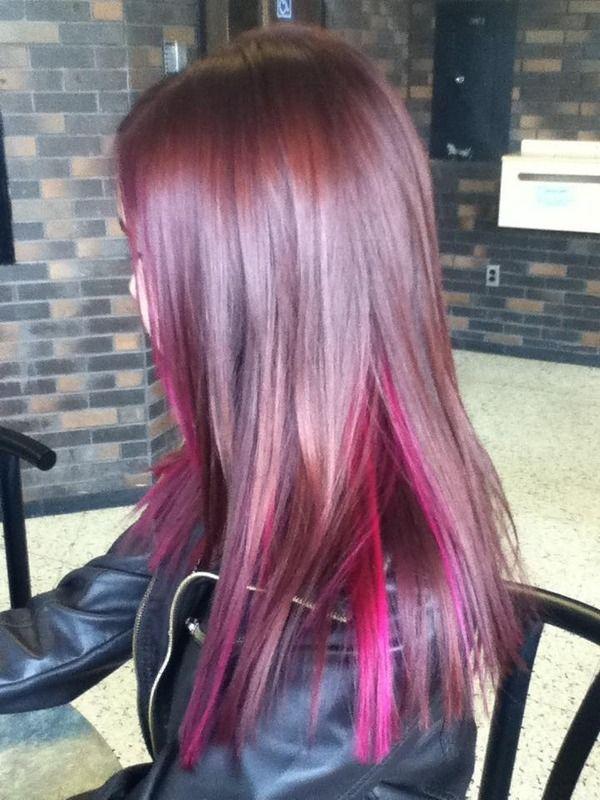 Pink Peekaboos @Candra Dowman Dowman Dowman arreola | Hair ...