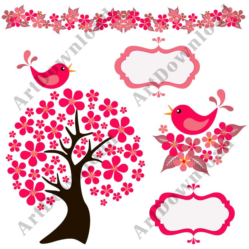 rbol con p jaros aves clip art digital scrapbooking uso clip art rh pinterest com clipart for scrapbooking free free printable disney clipart for scrapbooking
