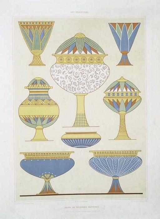 древний египет узор тарелка картинки стиле