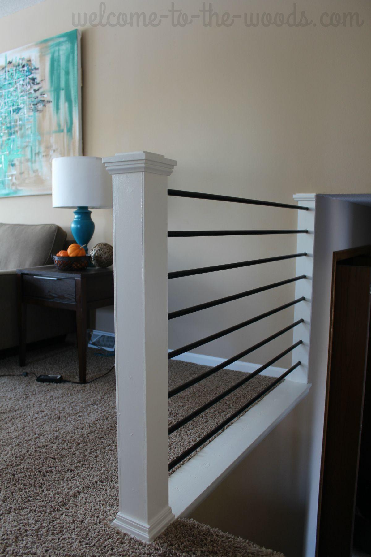 Stair Railing Diy Makeover Diy Stair Railing Stair Railing | Diy Metal Stair Railing | Outdoor | Exterior | Beginner | Indoor | Metal Baluster Drywall