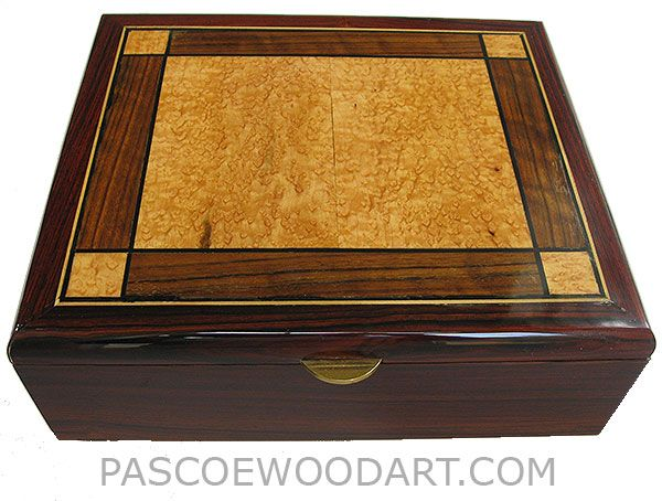 Decorative Keepsake Box Magnificent 12 10 4 350 Handcrafted Large Cocobolo Wood Box  Decorative Wood Inspiration Design