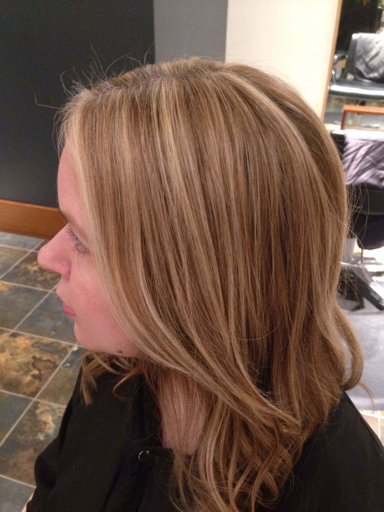 Balayage with wella 7/73 lowlights | My hair color ...
