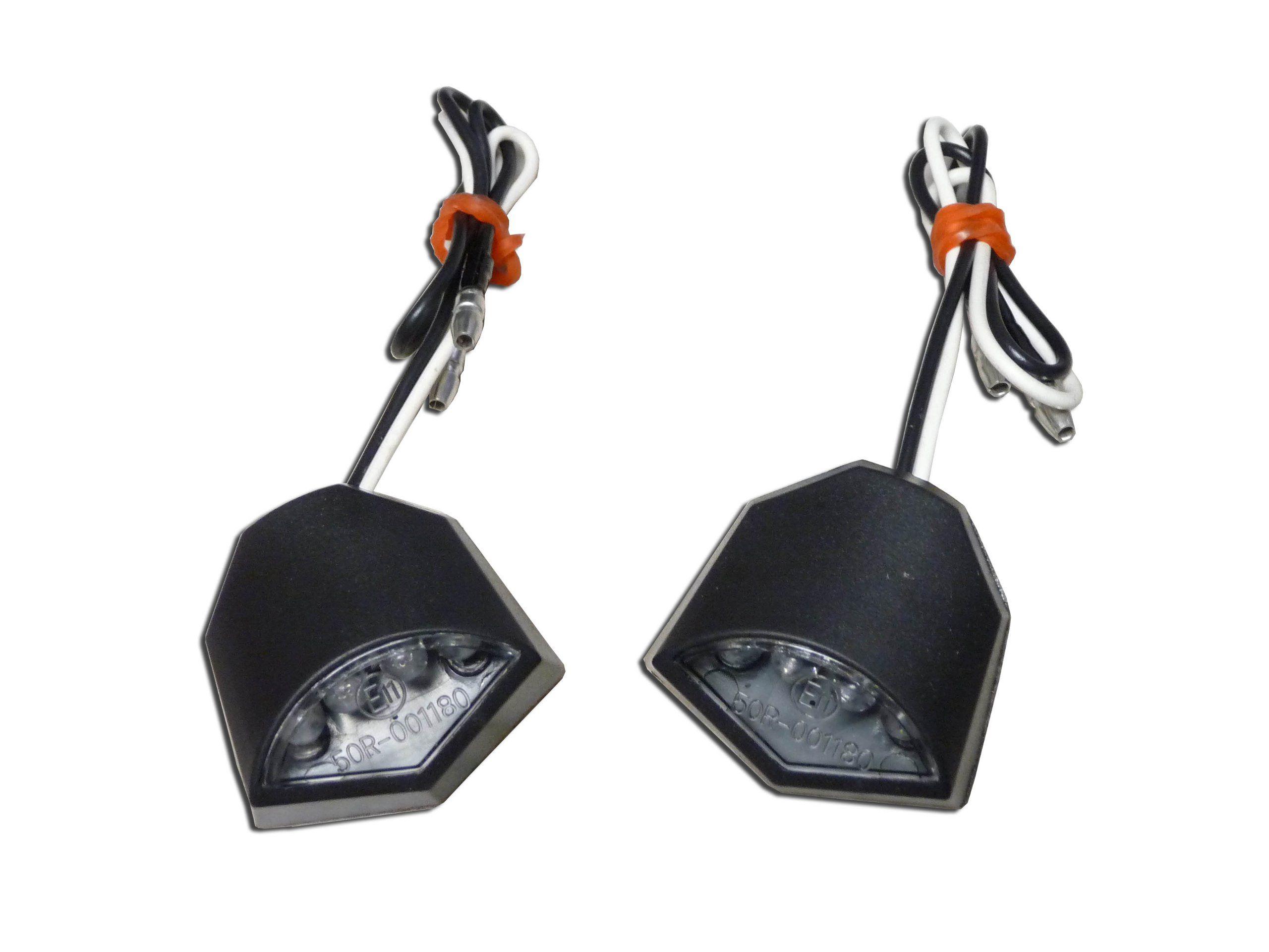 Universal Flush Mount Turn Signal Blinker Lights Flasher Amber Led Cbr600rr Wiring Diagram Black Honda Cbr 600 F2